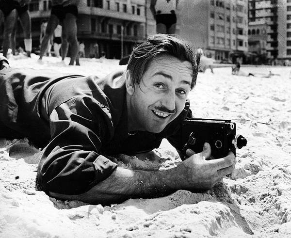 Craftsperson Photograph - Film Maker Walt Disney Filming On by Hart Preston