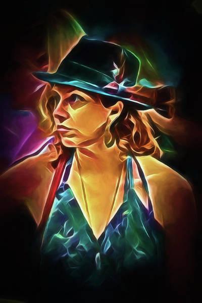 Digital Art - Film Noir Female by John Haldane
