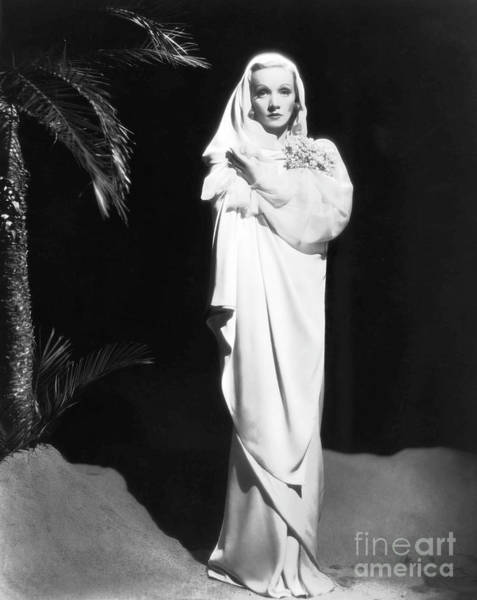Leading Actress Wall Art - Photograph - Film Still From The Garden Of Allah Starring Marlene Dietrich by European School