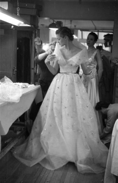 Evening Wear Photograph - Final Touches by Kurt Hutton