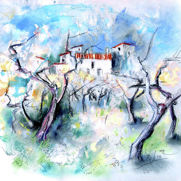 Wall Art - Painting - Finca On The Costa Blanca 03 by Miki De Goodaboom
