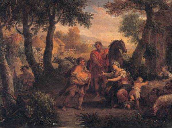 Romulus And Remus Painting - Finding Of Romulus And Remus  by Andrea Lucatelli