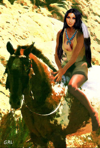 Digital Art - Fine Art Digital Portrait Cher Half Breed B Detail3 by G Linsenmayer