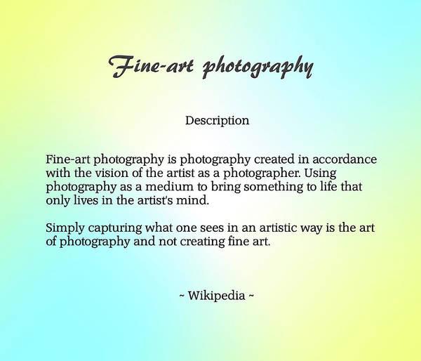 Description Digital Art - Fine-art Photography Description by Brian Wallace