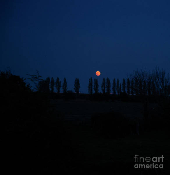 Photograph - Fine Art Red Moon At Dusk by Jenny Potter