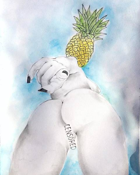 Food And Beverage Painting - Fineapple by Fineapple Apple