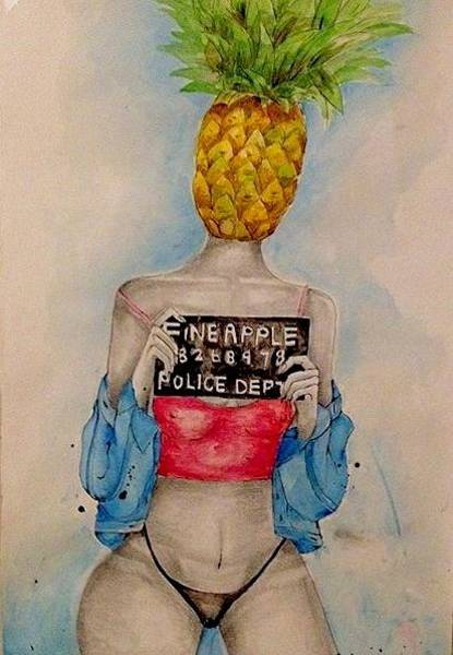 Food And Beverage Painting - Fineapple Og  by Fineapple Apple
