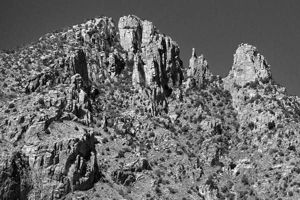 Photograph - Finger Rock Black And White by Chance Kafka