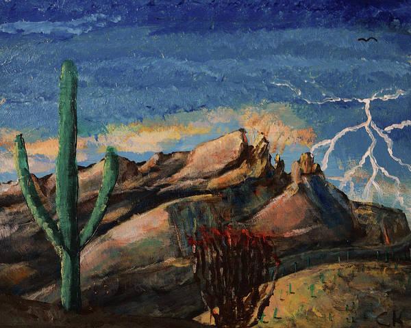 Painting - Finger Rock Lightning  by Chance Kafka