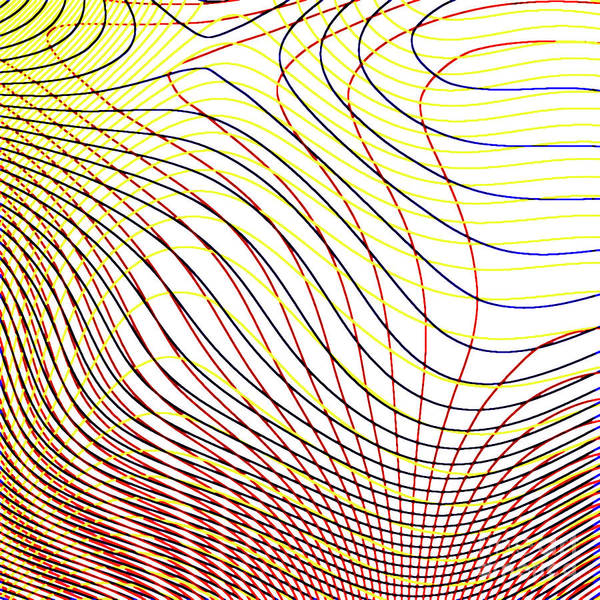 Fluid Digital Art - Fingertips by Alex Caminker