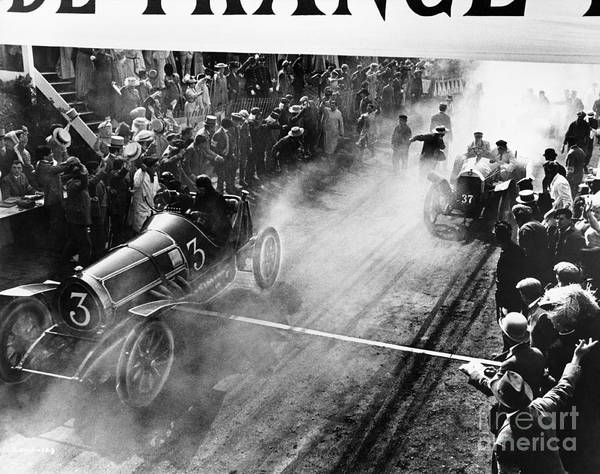 Caucasian Wall Art - Photograph - Finish Line At Auto Race by Everett Collection