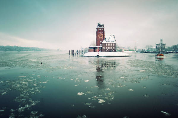 The Clock Tower Photograph - Finkenwerder by Amaar Ujeyl