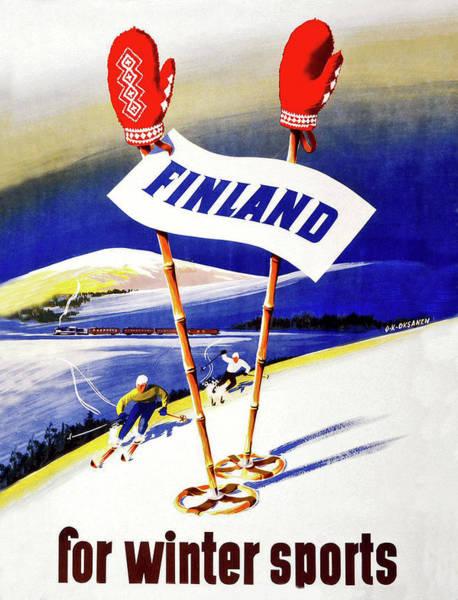 Wall Art - Digital Art - Finland For Winter Sports by Long Shot