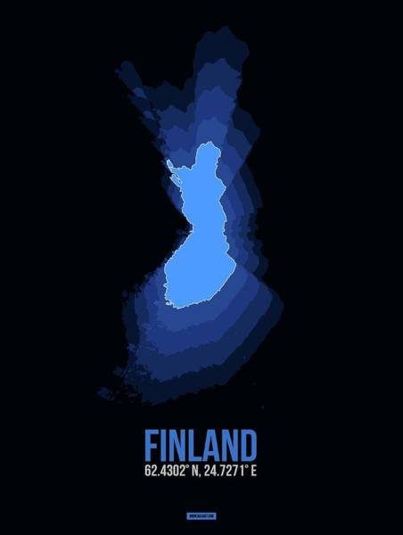 Wall Art - Digital Art - Finland Radiant Map I by Naxart Studio