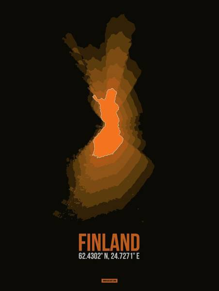 Wall Art - Digital Art - Finland Radiant Map II by Naxart Studio