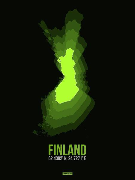 Wall Art - Digital Art - Finland Radiant Map IIi by Naxart Studio