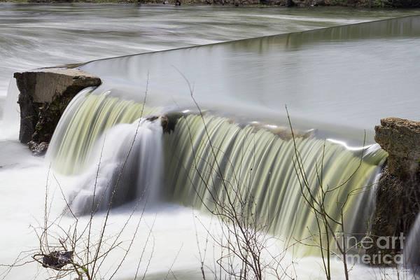 Wall Art - Photograph - Finley River Dam Waterfall by Jennifer White