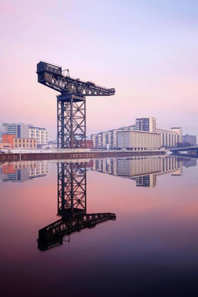 Photograph - Finnieston Crane Reflection by Grant Glendinning