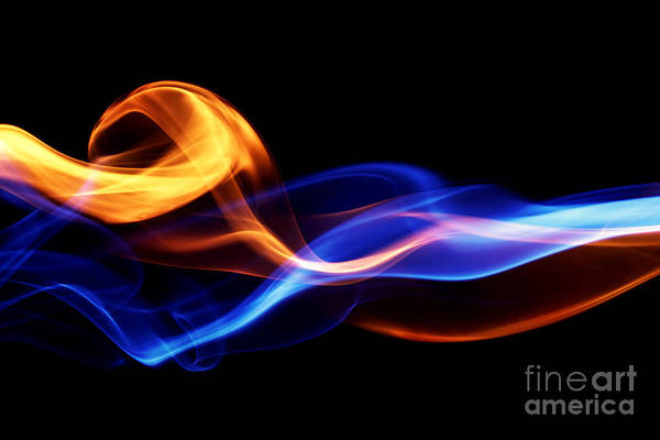 Curve Wall Art - Digital Art - Fire & Ice Design by Leigh Prather