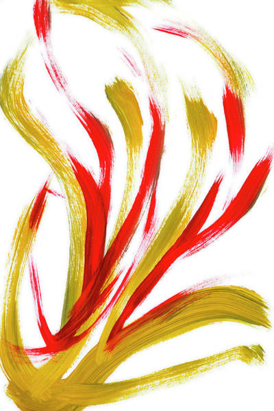 Painting - Fire Abstract Painting by Christina Rollo