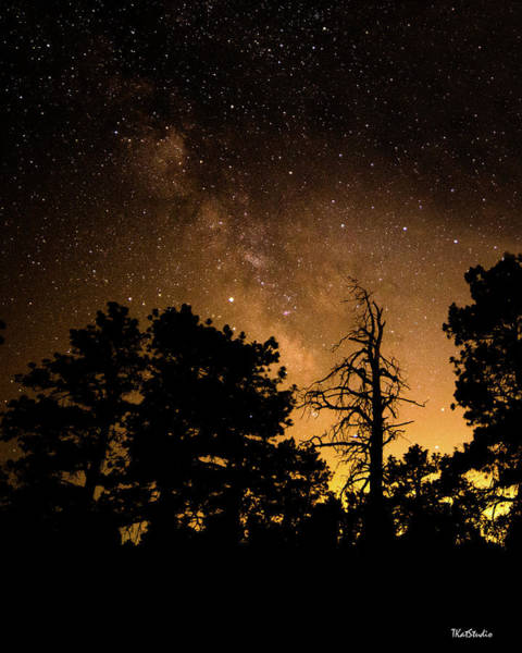 Photograph - Fire And The Milky Way by Tim Kathka