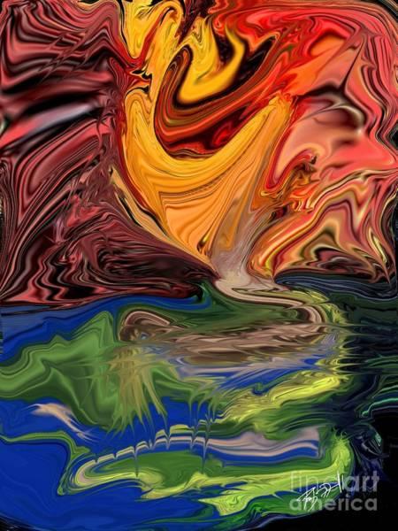 Digital Art - Fire Elemental  by Rob Mandell
