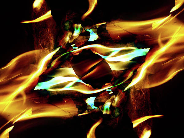 Photograph - Fire Eye by JimO Ogilvie