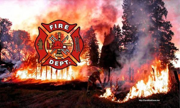 Photograph - Fire Fighting 3 by David Matthews