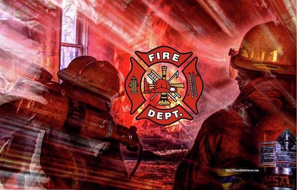 Photograph - Fire Fighting 4 by David Matthews