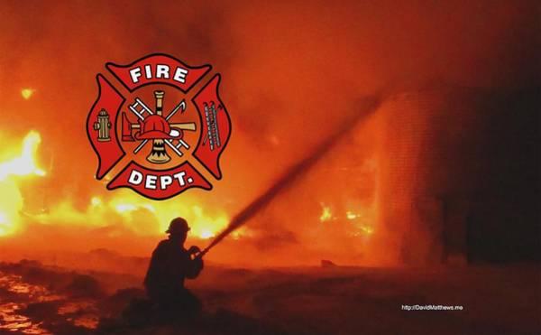 Photograph - Fire Fighting 5 by David Matthews