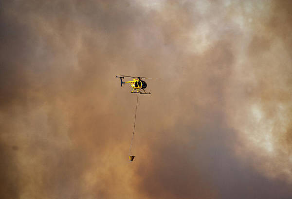 Photograph - Fire Fighting Helicopter by Anthony Jones