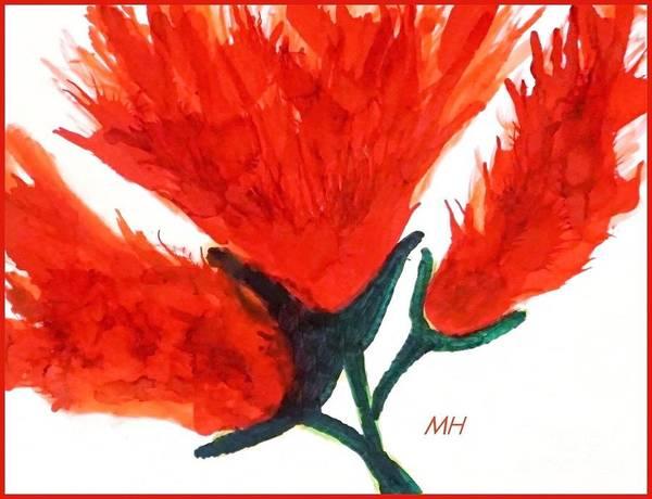 Wall Art - Painting - Fire Flower by Marsha Heiken