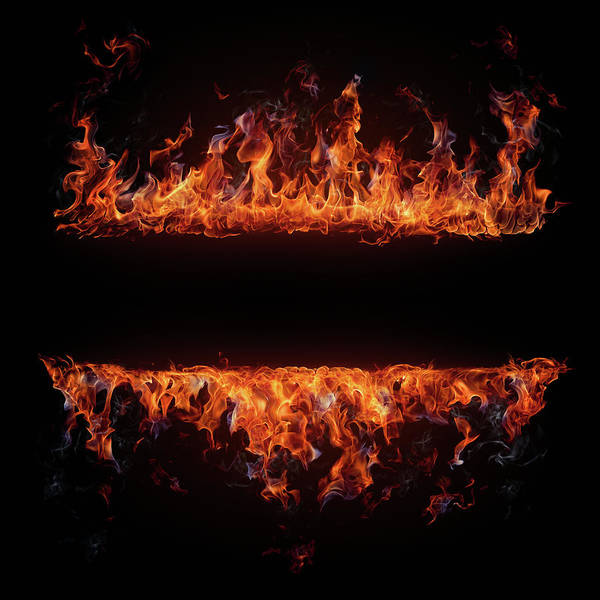 Burnt Orange Photograph - Fire Frame by Da-kuk