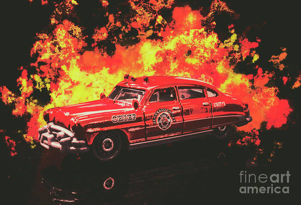 Fire Truck Photograph - Fire Hornet by Jorgo Photography - Wall Art Gallery
