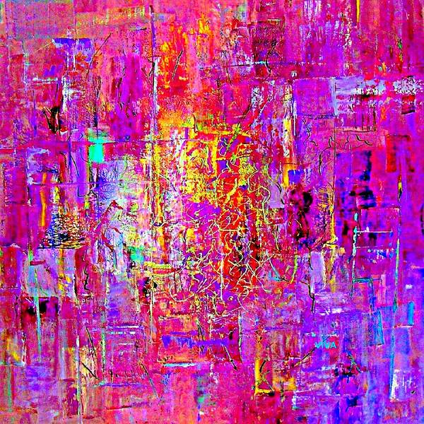 Painting - Fire In My Heart Abstract by VIVA Anderson