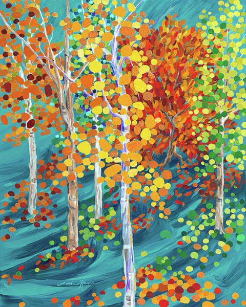 Painting - Fire In The Forest by Linda Rauch