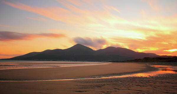 Newcastle Upon Tyne Photograph - Fire In The Sky At Murlough Mournes by Stephen Wallace Photography