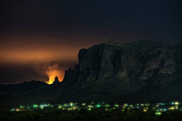 Wall Art - Photograph - Fire In The Superstitions  by Saija Lehtonen