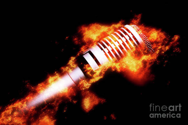 Microphone Photograph - Fire It Up by Jorgo Photography - Wall Art Gallery
