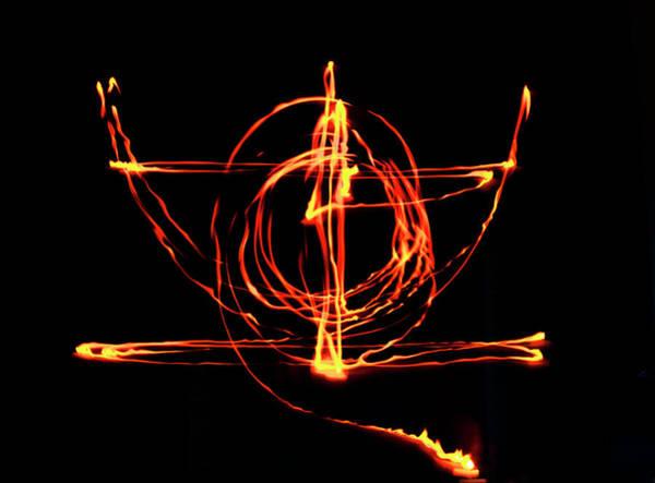Photograph - Fire Light Drawing by John Dakin