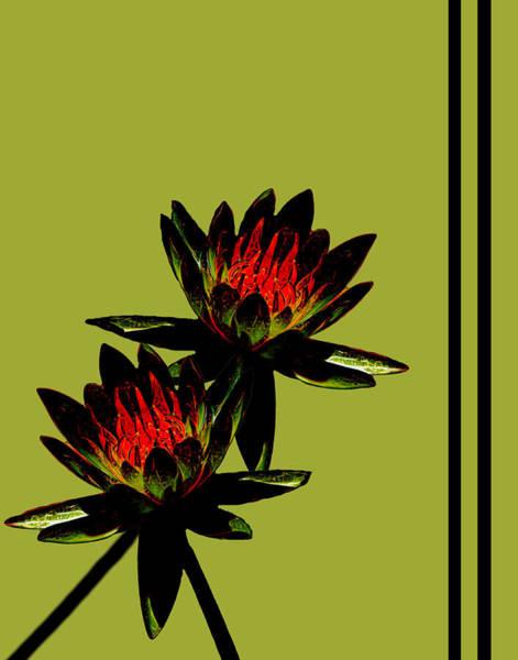 Mixed Media - Fire Lilies by Rosalie Scanlon