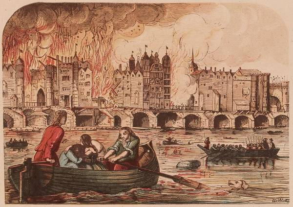 Crisis Photograph - Fire Of London by Hulton Archive