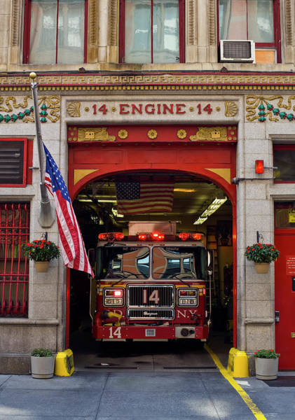 Fire Department Photograph - Fire Station, Gramercy District, New by Wayne  Fogden