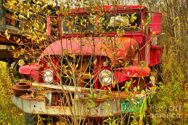 Photograph - Fire Tanker In The Meadow by Adam Jewell
