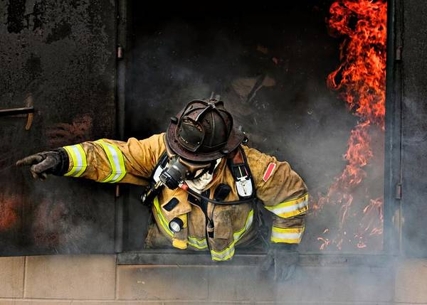 Headwear Photograph - Firefighter by Steven Reisman