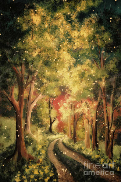 Digital Art - Firefly Twilight by Lois Bryan