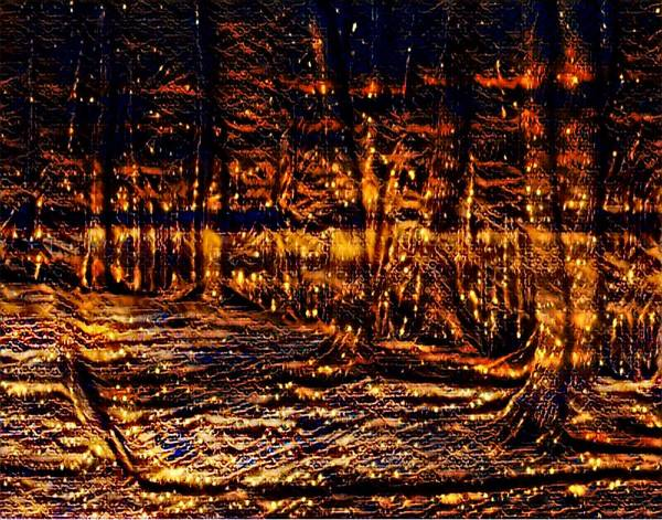 Mottled Mixed Media - Firefly Woodlands I by Marshall Thomas
