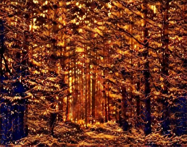Mottled Mixed Media - Firefly Woodlands Iv by Marshall Thomas