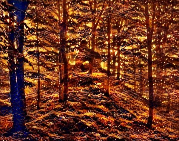 Mottled Mixed Media - Firefly Woodlands Ix by Marshall Thomas