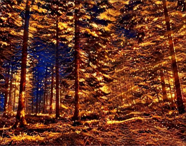 Mottled Mixed Media - Firefly Woodlands Vi by Marshall Thomas